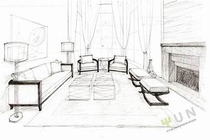 Interior Schita Sketches Living Ului Pasii Drawing