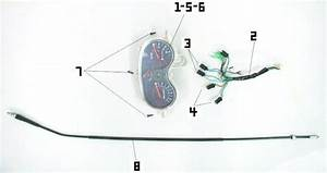 Speedometer Assembly And Parts For Your 125cc Or150cc Gy6 Scooter Repair Project