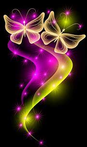 [36+] Neon Butterfly Desktop Wallpaper on WallpaperSafari