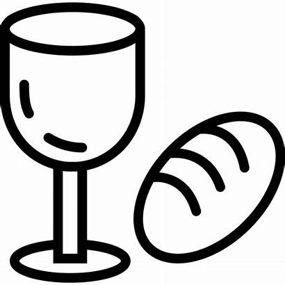 Bread Wine Clipart Thali Rubber Meal Stamp