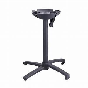 Pied De Table Pliant : pied x one pliant noir pieds de table mobilier terrasse ~ Teatrodelosmanantiales.com Idées de Décoration