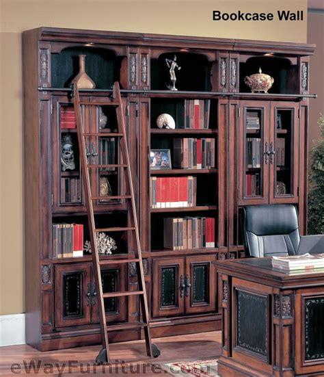 library bookcase with ladder parker house davinci library bookcase wall with ladder