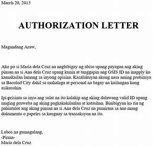Authorization Letter For Gsis Id