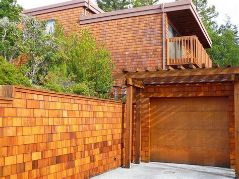 redwood deck shingle siding cal preserving