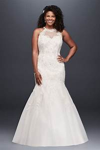 jewel illusion halter lace plus size wedding dress style With jewel wedding dress