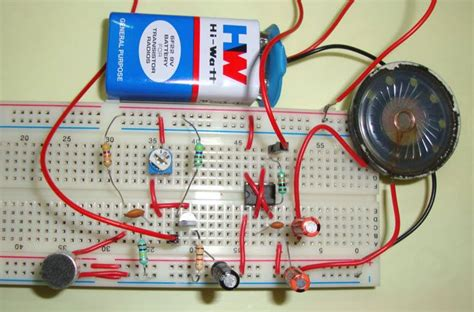Simple Audio Amplifier Circuit Using Timer