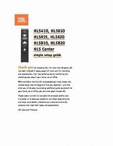 Jbl Hls 810  Serv Man2  User Guide    Operation Manual