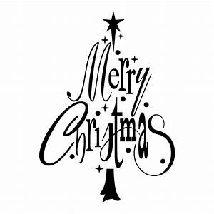 Merry christmas black and white merry christmas tree wall ...
