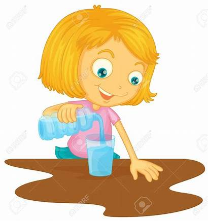 Pouring Water Pour Clipart Glass Into Illustration