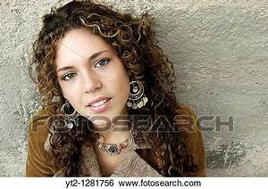 Stock Images Of Portrait Of An Attractive Spanish Young