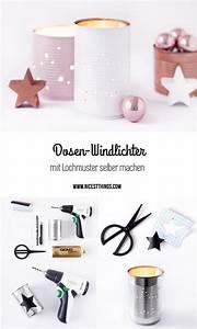 Tischdeko Weihnachten Selber Machen : tischdeko weihnachten diy dosen windlicht in weiss rosa ~ Watch28wear.com Haus und Dekorationen