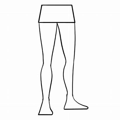Legs Draw Drawing Easy Outline Feet Tutorial