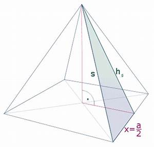 Höhe Von Pyramide Berechnen : h he berechnung der h he einer pyramide gegeben a 12 cm ~ Themetempest.com Abrechnung