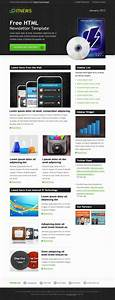 Free html newsletter template it news free mail templates for Free online newsletter templates for email