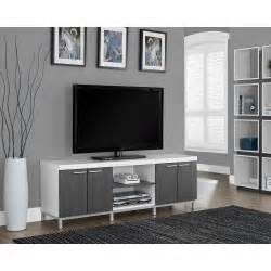 white tv stand with storage monarch specialties hollow white and grey storage 1880