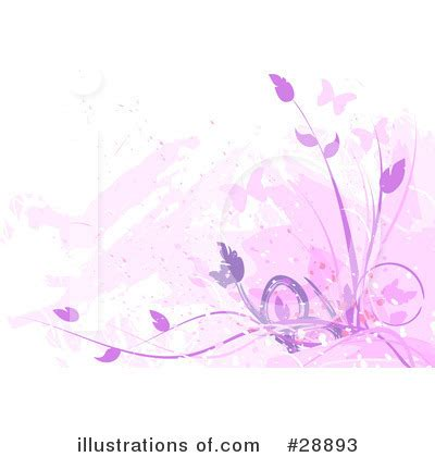 Floral Background Clipart #28893  Illustration By Tonis Pan