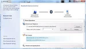 Bluetooth Device Control Window