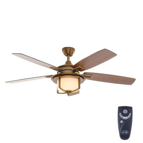 does home depot install ceiling fans hton bay devereaux ii 52 in indoor weathered brass