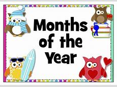 Owl Months of the Year Posters with explanations Ready Made