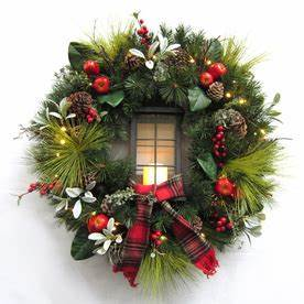 Shop Artificial Christmas Wreaths at Lowes