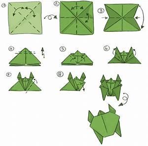 Origami Für Anfänger : die anleitung zum falten einer schildkr te origami ~ A.2002-acura-tl-radio.info Haus und Dekorationen