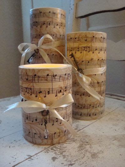 Glass Candle Holders Wrapped Sandwich Paper Raffia Ribbons by Wrapped Led Candles Crafts Sheet Crafts