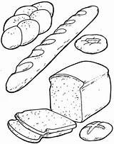 Coloring Bread Breakfast Printable Preschool Sheets Loaf Worksheets Cartoon Breads Crafts Colouring Kindergarten Cheese Preschoolactivities Template Fruit Toddler Worksheet Getcolorings sketch template