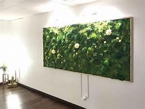 moss wall art moss art work real preserved moss no With moss wall art