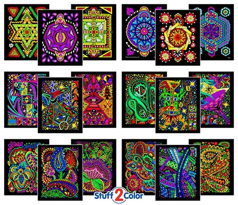 themgifts pack  fuzzy velvet coloring posters