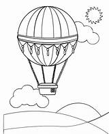 Air Balloon Balloons Coloring Pages sketch template