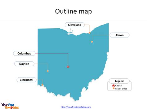ohio map powerpoint templates  powerpoint templates