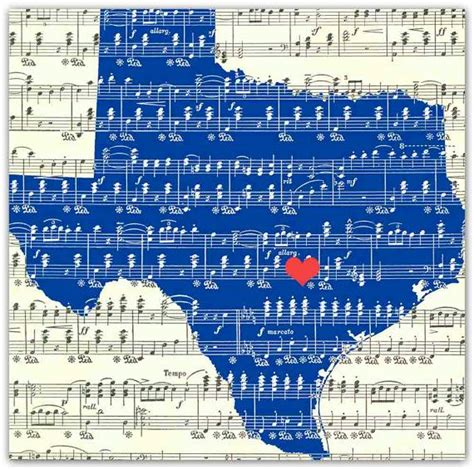 Texas State Map of Old Art