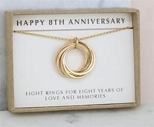 8th anniversary gift for wife 8 year anniversary necklace for for 8th wedding anniversary gifts for her