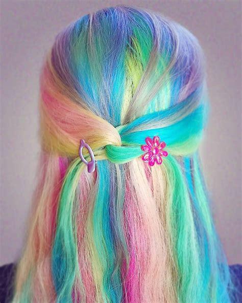 Best 25 Pastel Rainbow Hair Ideas On Pinterest Crazy