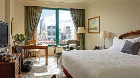 river view luxury  star deluxe hotel room  langham