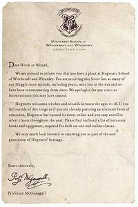 welcome to hogwarts image 2209822 by lauralai on favimcom With harry potter school acceptance letter