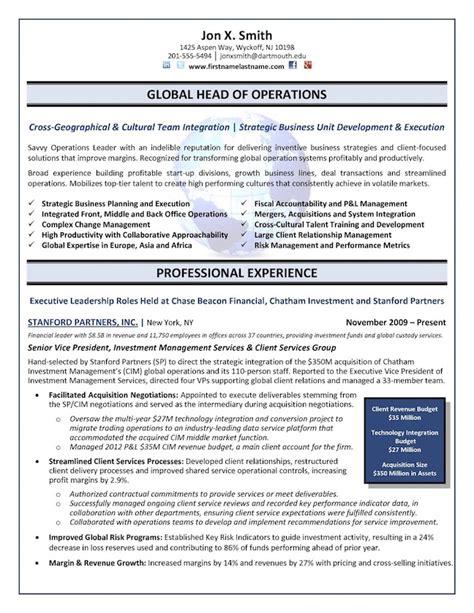 top  executive resume examples written