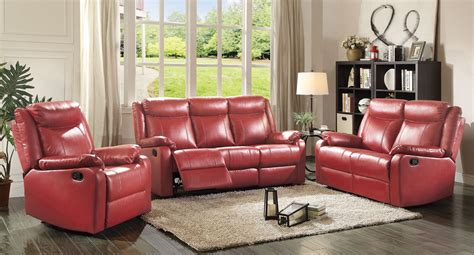 reclining living room set red living room sets