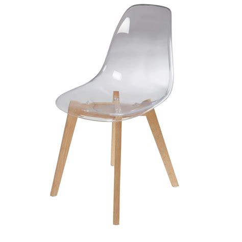 chaise transparente design chaise scandinave transparente maisons du monde