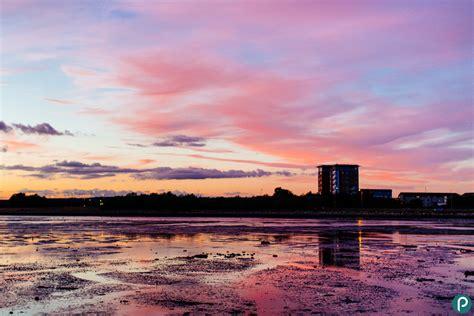 dorset photographer sunset photography  holes bay