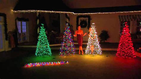 make tree of lights pre lit 6 fold flat outdoor tree by lori greiner with robertson