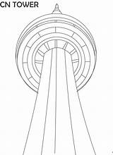 Tower Cn Coloring Pages Printable Canada Landmarks Famous Drawing Math Craft Royal Studyvillage Fun Cabin Sugar Visit Challenge sketch template