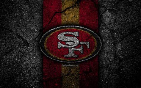 Download wallpapers 4k, San Francisco 49ers, logo, black ...