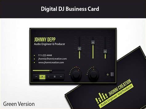 dj business card templates ms word ai indesign
