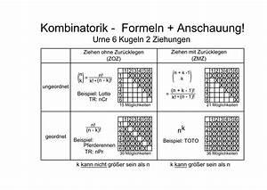 Lotto Wahrscheinlichkeit Berechnen Stochastik : kombinatorik ~ Themetempest.com Abrechnung