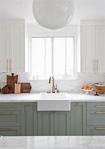 10 ways to add brushed brass into your home for Kitchen colors with white cabinets with brushed aluminum wall art