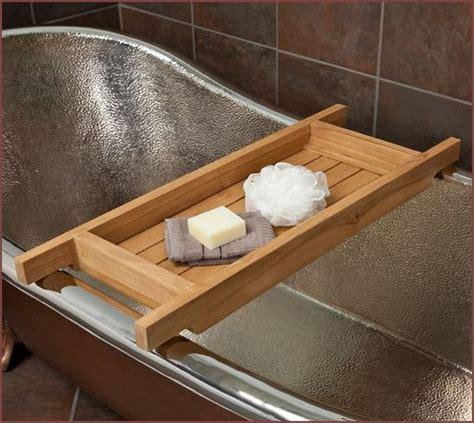diy wood bathtub caddy home design ideas