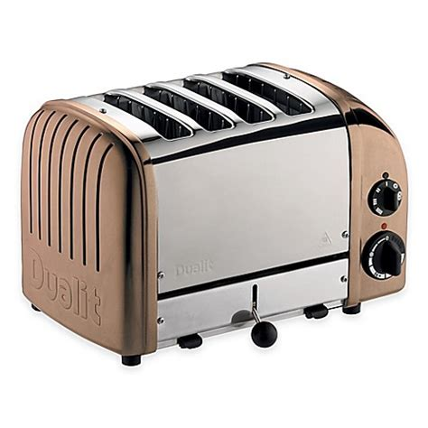 dualit 4 slice toaster buy dualit 174 4 slice newgen toaster in copper from bed bath