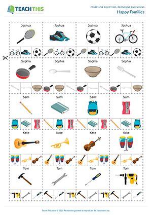 possessives esl games activities worksheets
