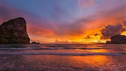 4k Laptop Sunset Thailand Desktop Landscape Railay